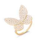 Copper Fashion Animal Ring  Alloy7  Fine Jewelry NHAS0340Alloy7