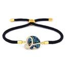 Copper Korea Geometric bracelet  Red rope alloy  Fine Jewelry NHAS0389Redropealloy