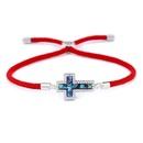 Copper Korea Cross bracelet  Red rope alloy  Fine Jewelry NHAS0390Redropealloy