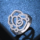 Copper Fashion Flowers Ring  Alloy7  Fine Jewelry NHAS0391Alloy7