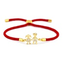 Copper Korea Geometric bracelet  Red rope alloy  Fine Jewelry NHAS0394Redropealloy