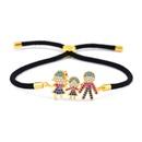 Copper Korea Geometric bracelet  Red rope alloy  Fine Jewelry NHAS0396Redropealloy