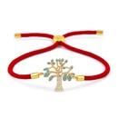 Copper Korea Geometric bracelet  Red rope alloy  Fine Jewelry NHAS0397Redropealloy