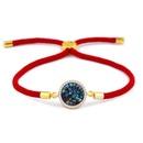 Copper Korea Geometric bracelet  Red rope alloy  Fine Jewelry NHAS0398Redropealloy