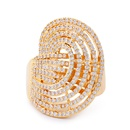 Copper Simple Geometric Ring  Alloy7  Fine Jewelry NHAS0400Alloy7