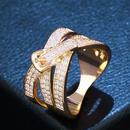 Copper Fashion Geometric Ring  Alloy7  Fine Jewelry NHAS0416Alloy7