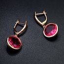 Imitated crystalCZ Fashion Geometric earring  red  Fashion Jewelry NHAS0432red