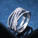 Copper Fashion Geometric Ring  Alloy7  Fine Jewelry NHAS0456Alloy7