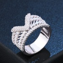 Copper Fashion Geometric Ring  Alloy7  Fine Jewelry NHAS0458Alloy7