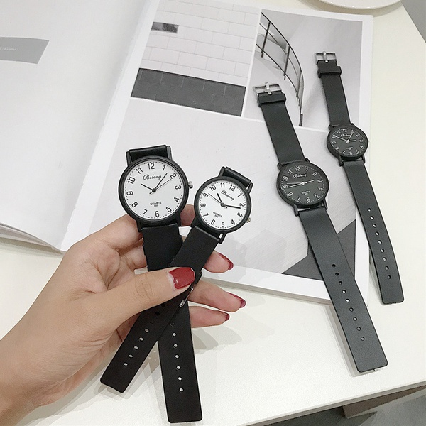 Alloy Fashion  Children watch  (Black belt with black plate)  Fashion Watches NHJS0403-Black-belt-with-black-plate