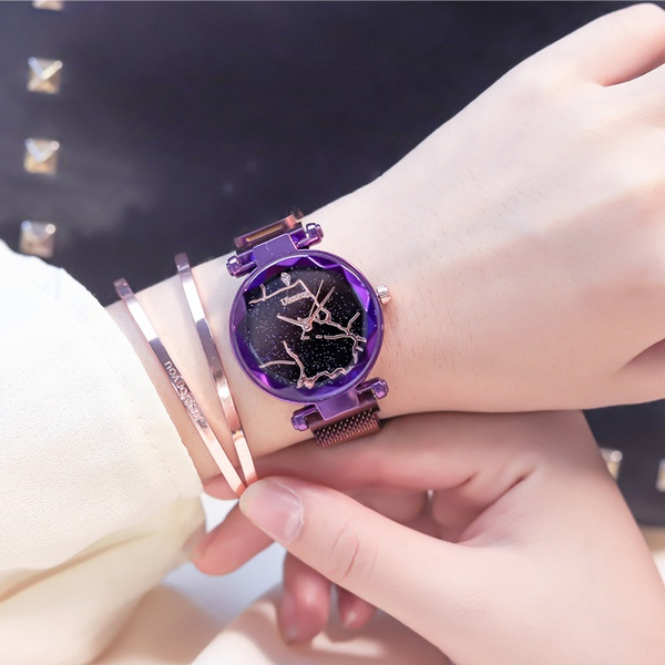 Alloy Fashion  Ladies watch  (Black belt only watch)  Fashion Watches NHJS0409-Black-belt-only-watch