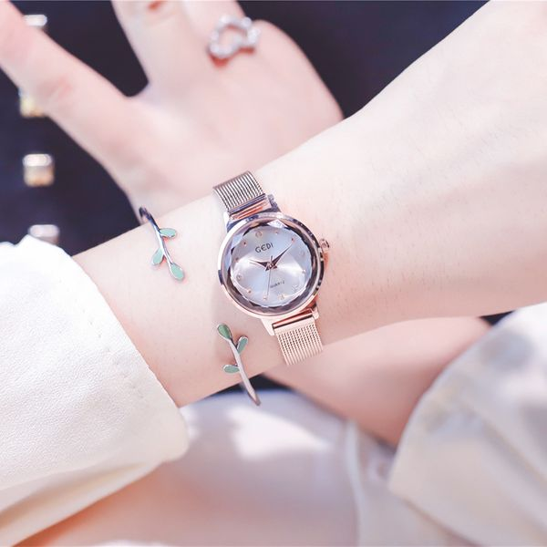 Alloy Fashion  Ladies watch  (Alloy belt white plate only watch)  Fashion Watches NHJS0416-Alloy-belt-white-plate-only-watch
