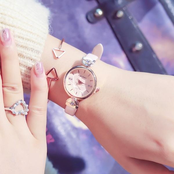Alloy Fashion  Ladies watch  (Powder belt watch only)  Fashion Watches NHJS0418-Powder-belt-watch-only