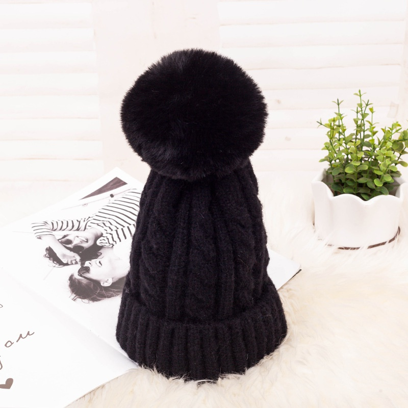 Cloth Korea  hat  (A-70 plus velvet twist ball black)  Fashion Jewelry NHXB0324-A-70-plus-velvet-twist-ball-black
