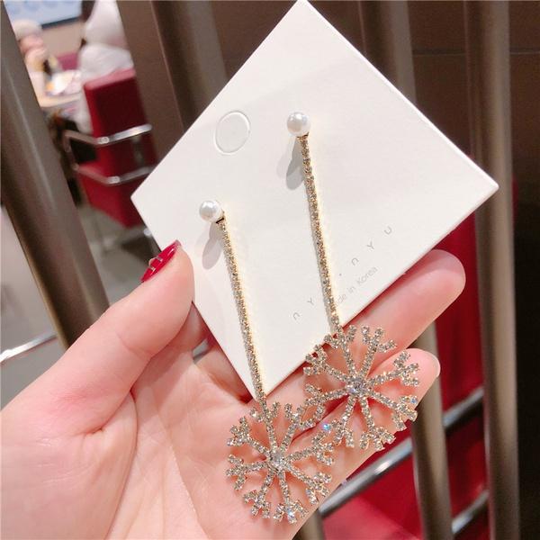 Alloy Korea Flowers earring  (Alloy snowflake)  Fashion Jewelry NHQG1515-Alloy-snowflake