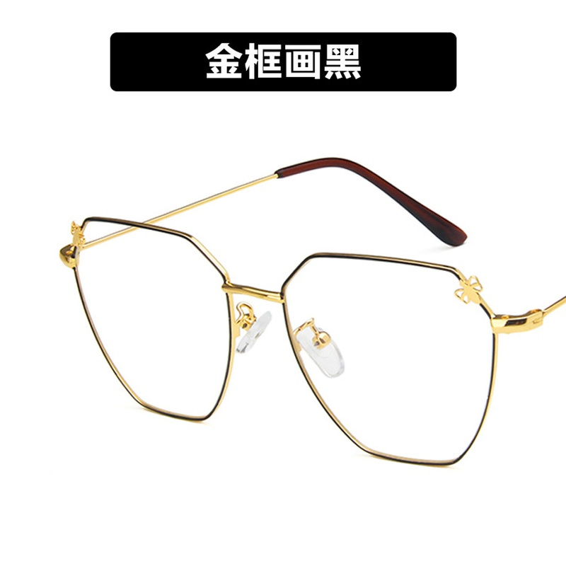 Alloy Fashion  glasses  (Alloy frame painted black)  Fashion Jewelry NHKD0652-Alloy-frame-painted-black