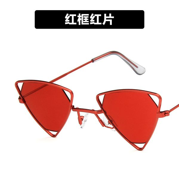 Alloy Vintage  glasses  (Red frame red piece)  Fashion Jewelry NHKD0653-Red-frame-red-piece