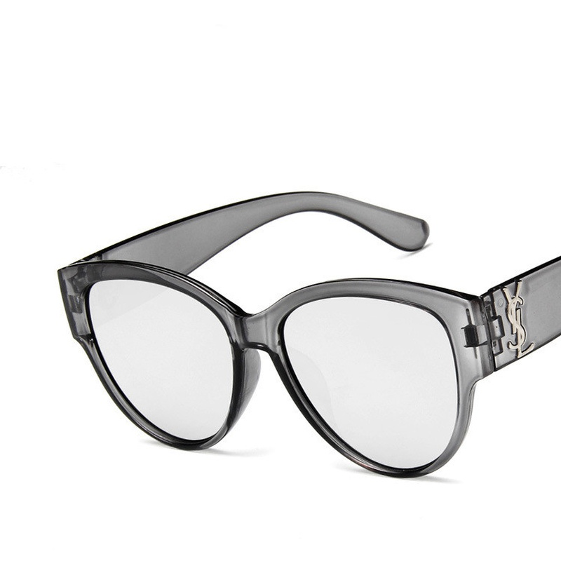 Plastic Fashion  glasses  (Transparent gray and white mercury)  Fashion Jewelry NHKD0656-Transparent-gray-and-white-mercury