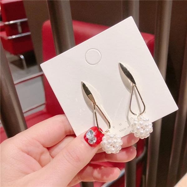Alloy Korea Geometric earring  (Dropping beads ball)  Fashion Jewelry NHQG1546-Dropping-beads-ball