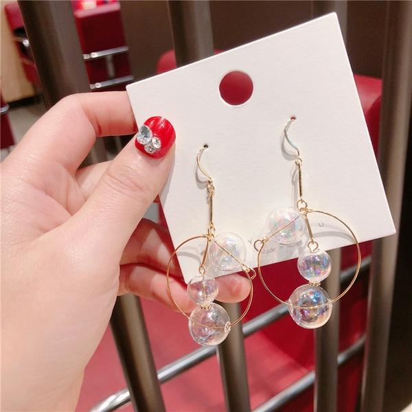 Alloy Korea Geometric earring  (Glass ball)  Fashion Jewelry NHQG1550-Glass-ball