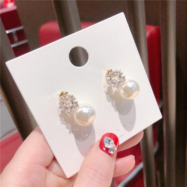 Alloy Korea Flowers earring  (Multi-ring beads)  Fashion Jewelry NHQG1551-Multi-ring-beads