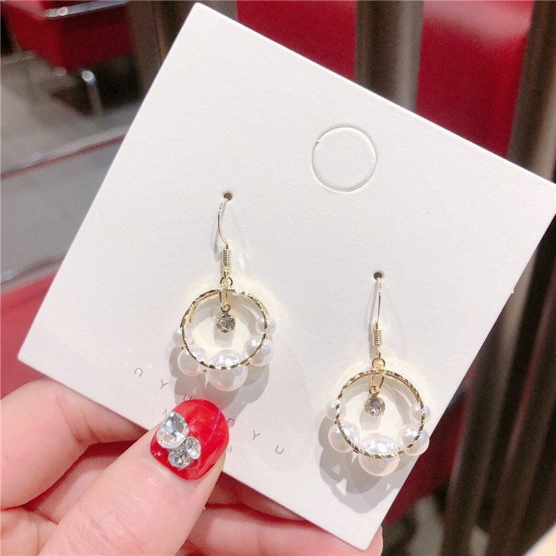 Alloy Korea Sweetheart earring  (Ring beads)  Fashion Jewelry NHQG1555-Ring-beads