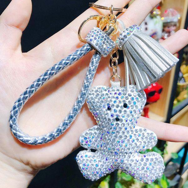 Leather Korea bolso cesta key chain  (1)  Fashion Jewelry NHBM0700-1