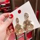 Alloy Korea Geometric earring  (Square cutout)  Fashion Jewelry NHQG1541-Square-cutout