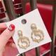 Alloy Korea Geometric earring  (5 ring beadss)  Fashion Jewelry NHQG1545-5-ring-beadss
