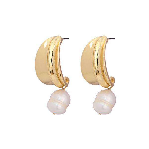 Alloy Fashion Geometric earring  (White beads)  Fashion Jewelry NHQS0565-White-beads