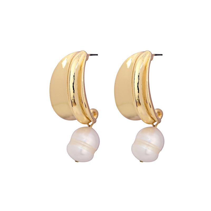 Alloy Fashion Geometric earring  (White beads)  Fashion Jewelry NHQS0565-White-beads