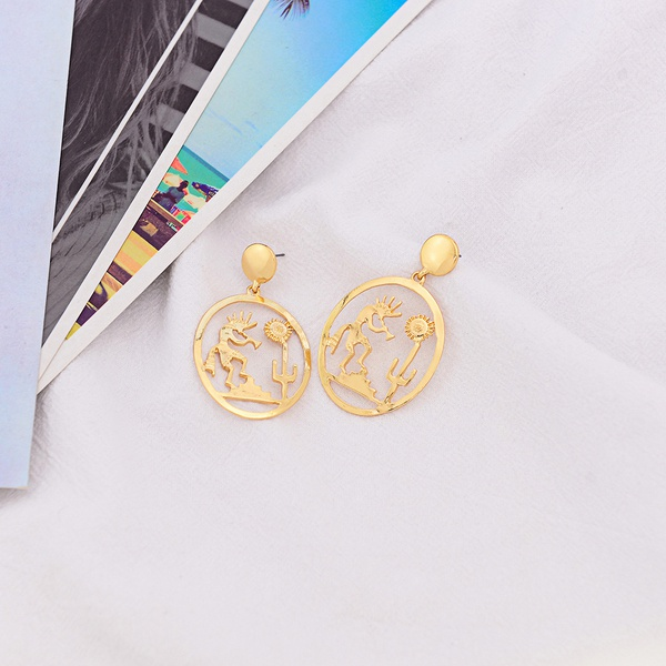 Alloy Fashion Geometric earring  (Photo Color)  Fashion Jewelry NHQS0568-Photo-Color