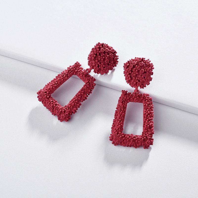 Alloy Fashion Flowers earring  (A0542RD)  Fashion Jewelry NHLU0592-A0542RD