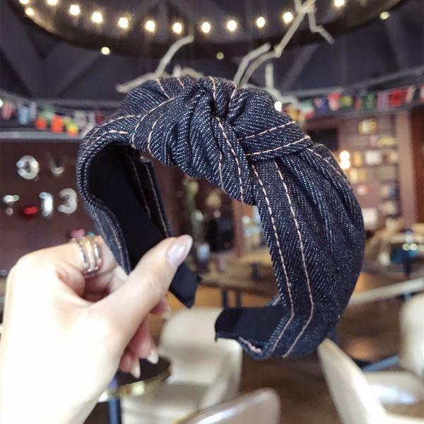 Cloth Simple  Hair accessories  (Black cowboy)  Fashion Jewelry NHSM0051-Black-cowboy