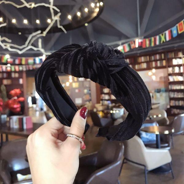 Cloth Simple Bows Hair accessories  (black)  Fashion Jewelry NHSM0093-black