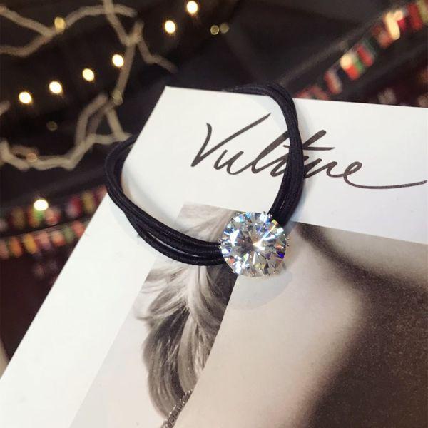 Imitated crystal&CZ Simple Geometric Hair accessories  (Zircon)  Fashion Jewelry NHSM0105-Zircon