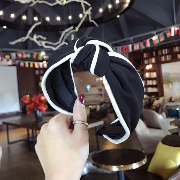 Cloth Simple Bows Hair accessories  (black)  Fashion Jewelry NHSM0112-black