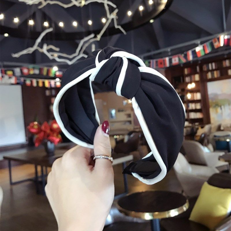 Cloth Simple Bows Hair accessories  black  Fashion Jewelry NHSM0112black