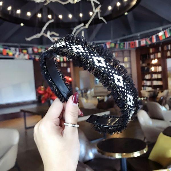 Cloth Bohemia bolso cesta Hair accessories  (Black alloy)  Fashion Jewelry NHSM0113-Black-alloy