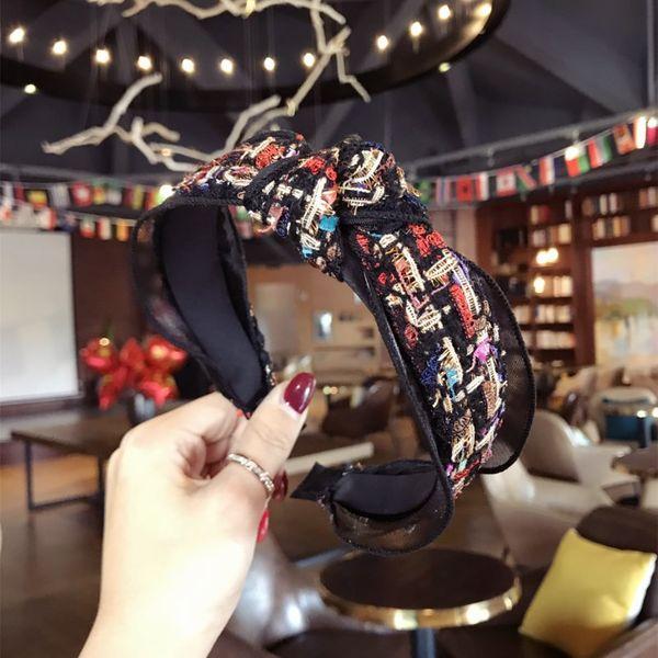 Cloth Korea Bows Hair accessories  (black)  Fashion Jewelry NHSM0119-black