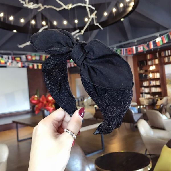 Cloth Simple  Hair accessories  (black)  Fashion Jewelry NHSM0121-black