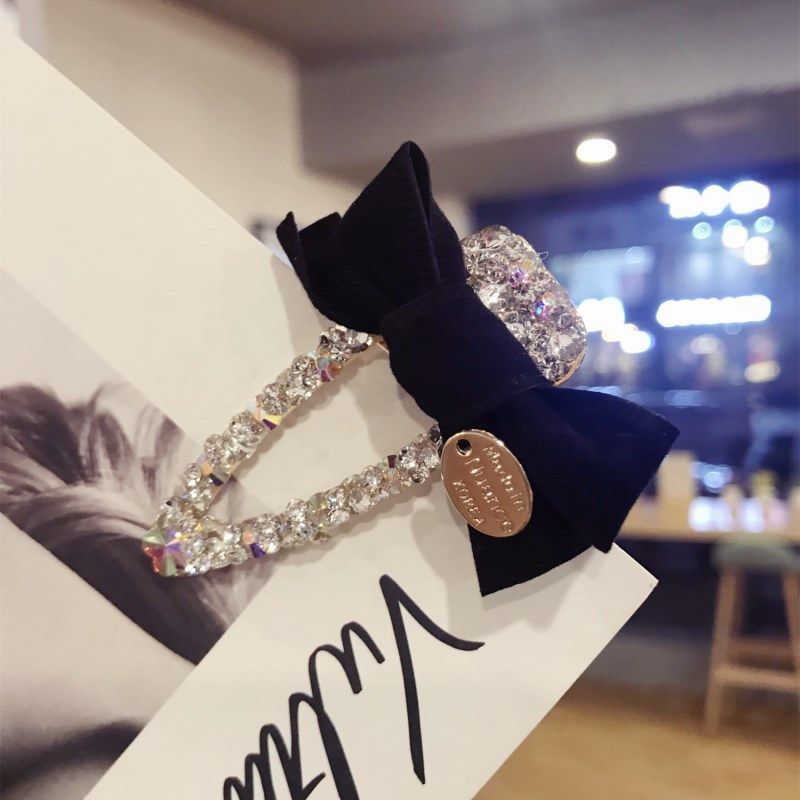Cloth Simple Bows Hair accessories  (black)  Fashion Jewelry NHSM0132-black