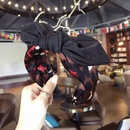 Cloth Simple Bows Hair accessories  Floral black  Fashion Jewelry NHSM0073Floralblack