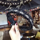 Cloth Bohemia bolso cesta Hair accessories  Black alloy  Fashion Jewelry NHSM0113Blackalloy
