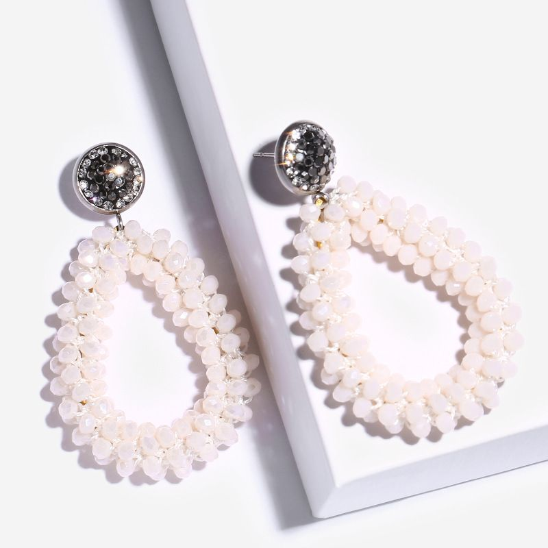 Alloy Korea bolso cesta earring  (white)  Fashion Jewelry NHAS0463-white