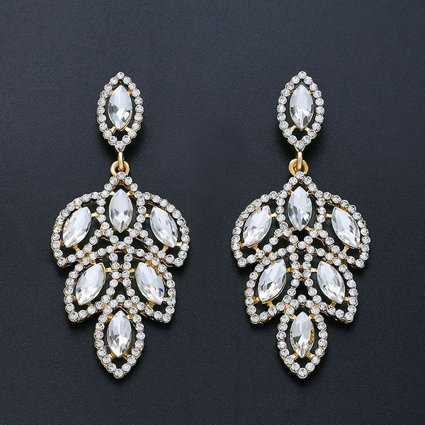 Imitated crystal&CZ Fashion Geometric earring  (Alloy)  Fashion Jewelry NHAS0468-Alloy