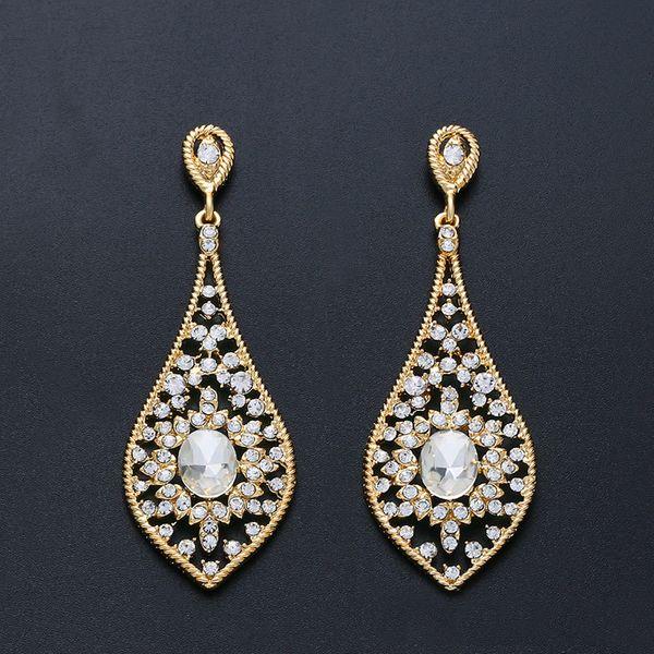 Imitated crystal&CZ Fashion  earring  (Alloy)  Fashion Jewelry NHAS0473-Alloy