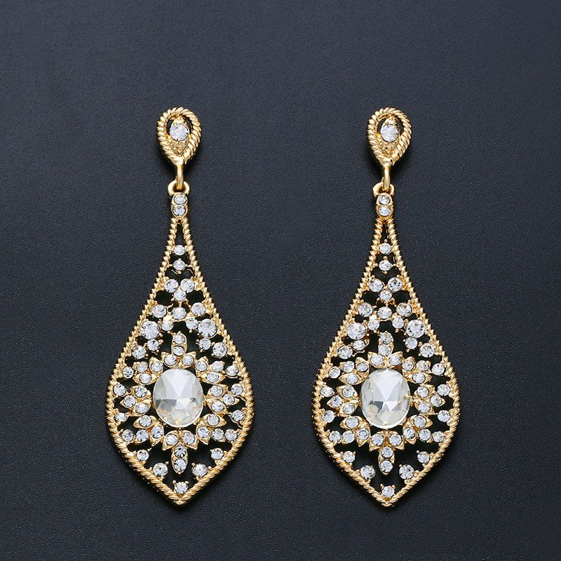 Imitated crystalCZ Fashion  earring  Alloy  Fashion Jewelry NHAS0473Alloy