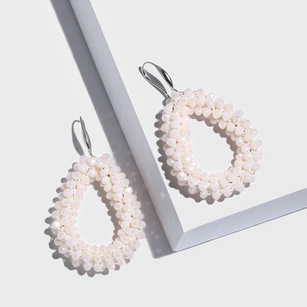 Alloy Fashion bolso cesta earring  (white)  Fashion Jewelry NHAS0476-white