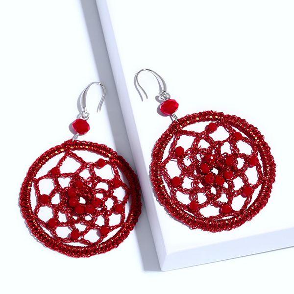 Plastic Fashion bolso cesta earring  (red)  Fashion Jewelry NHAS0477-red